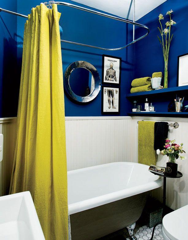 Mini salle de bains, couleurs audacieuses Décormag bath