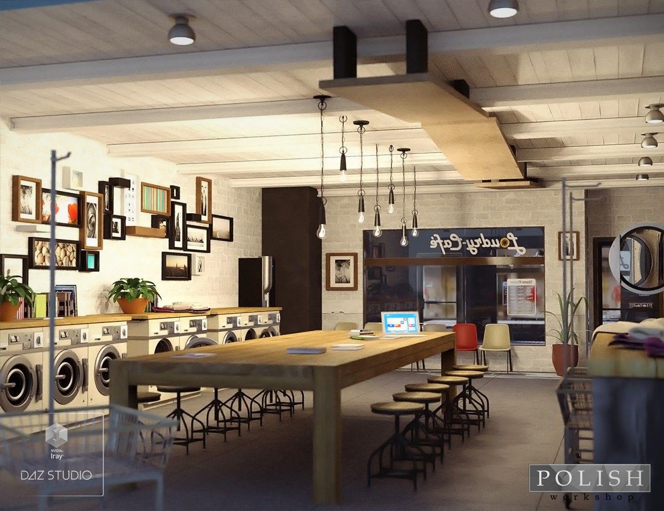 Laundromat Cafe 3d Models And 3d Software By Daz 3d Laundromat