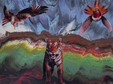 """Saatchi Art Artist Carlo Maniero; Painting, """"Se si guarda negli occhi un animale, tutti i sistemi filosofici del mondo crollano."""" #art"""