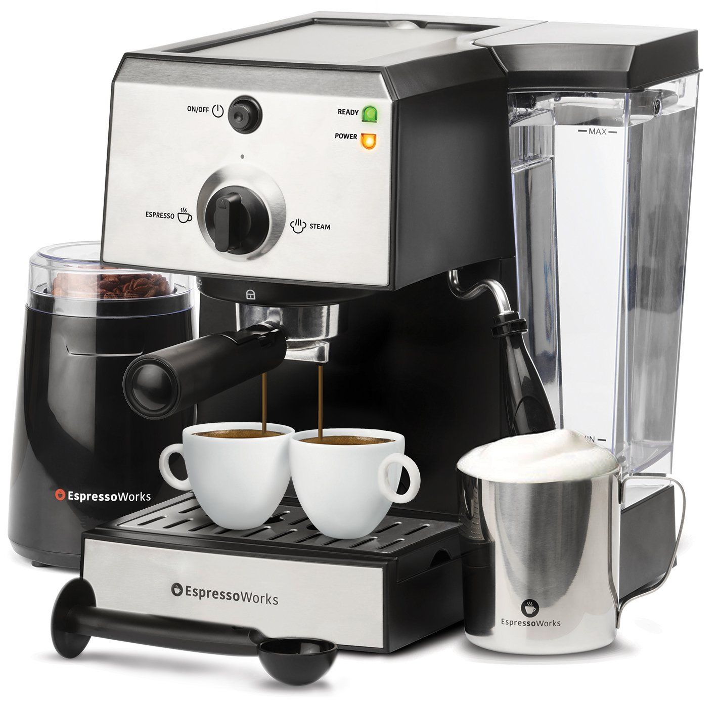 7 Pc AllInOne Espresso & Cappuccino Maker Machine