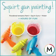 HOWTO: SQUIRT GUN PAINTING What\'s summer without a good old messy ...