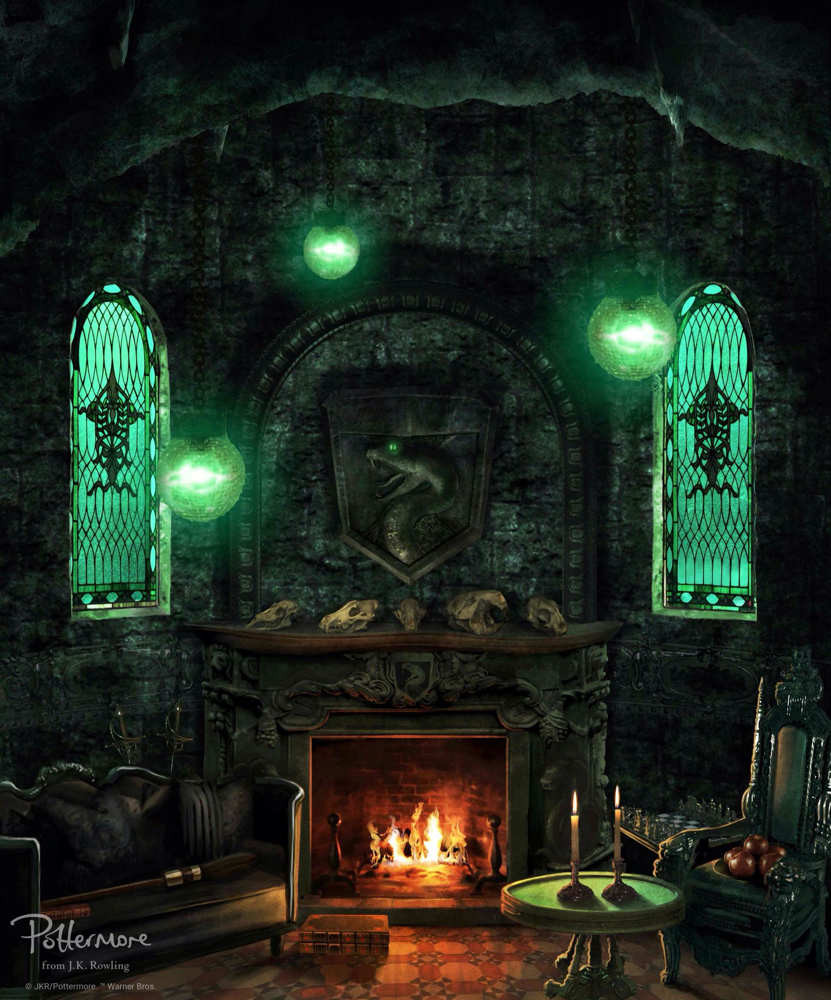 Official Slytherin House Common Room Wallpaper With Images