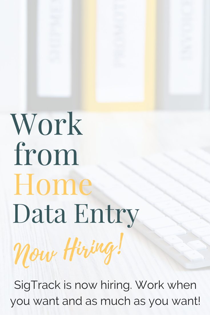 Data Entry Workers Needed at SigTrack - Now Hiring! | Data entry ...