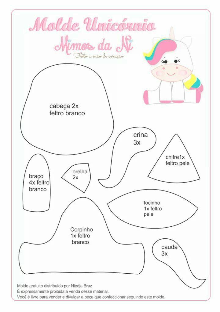 Lindo para una manualidad | unicornio | Pinterest | Unicornio ...