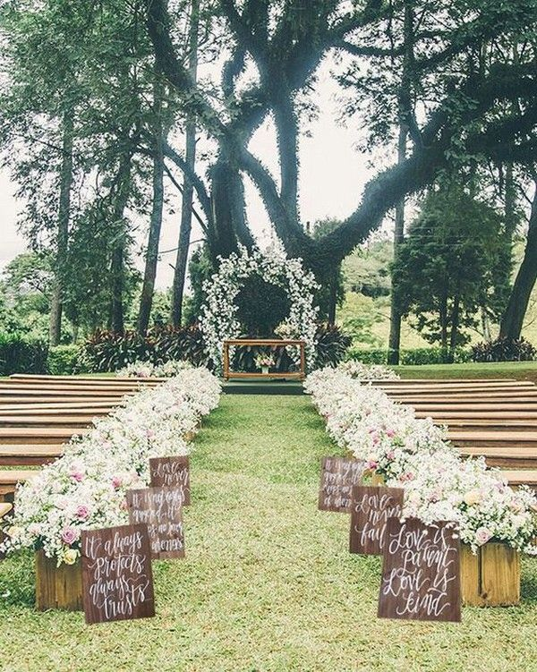 20 breathtaking wedding aisle decoration ideas to steal ideias 20 breathtaking wedding aisle decoration ideas to steal oh best day ever junglespirit Images