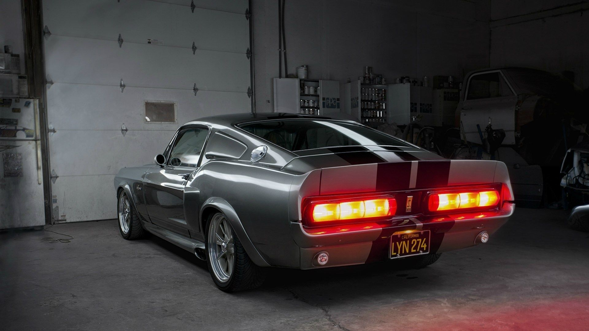California ford mustang gt500 shelby eleanor garage backlights