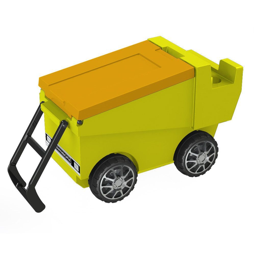 Zamboni Ice Chest on Wheels in Neon Yellow & Yellow