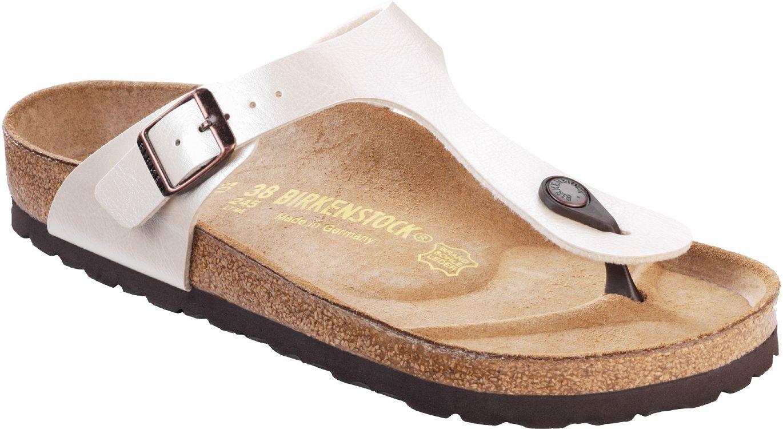 Birkenstock Women S Gizeh Sandals Size 9 9 5 Us 40 Euro White Birkenstock Sandals Women