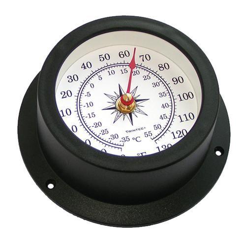 """TRINTEC  COM-02-NF 14"""" Antique Brass Nautical Flag Time /& Tide Clock"""