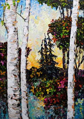 Dawn Awakening - painting by Maya Eventov at Crescent Hill Gallery