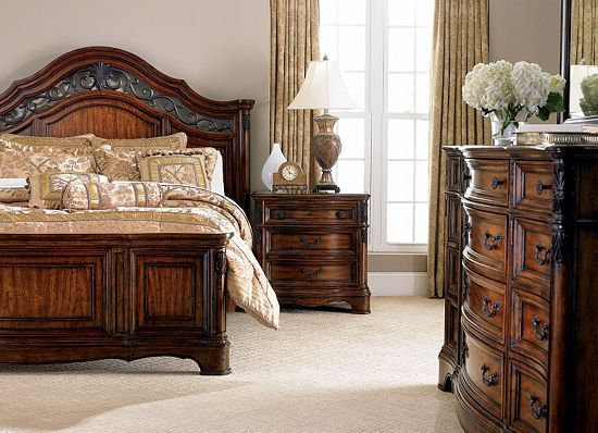 Traditional dark wood bedroom set for the home pinterest dark wood bedroom wood bedroom for Traditional wood bedroom furniture