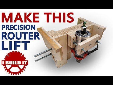 Building a router lift 141 youtube woodwork pinterest building a router lift 141 youtube greentooth Gallery