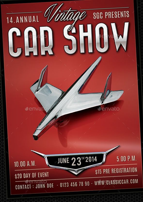 Classic Car Show Flyer  Cars
