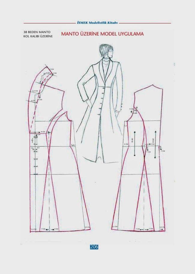 Pin de Waldirene Do en trench coat | Pinterest | Patrones, Molde y ...