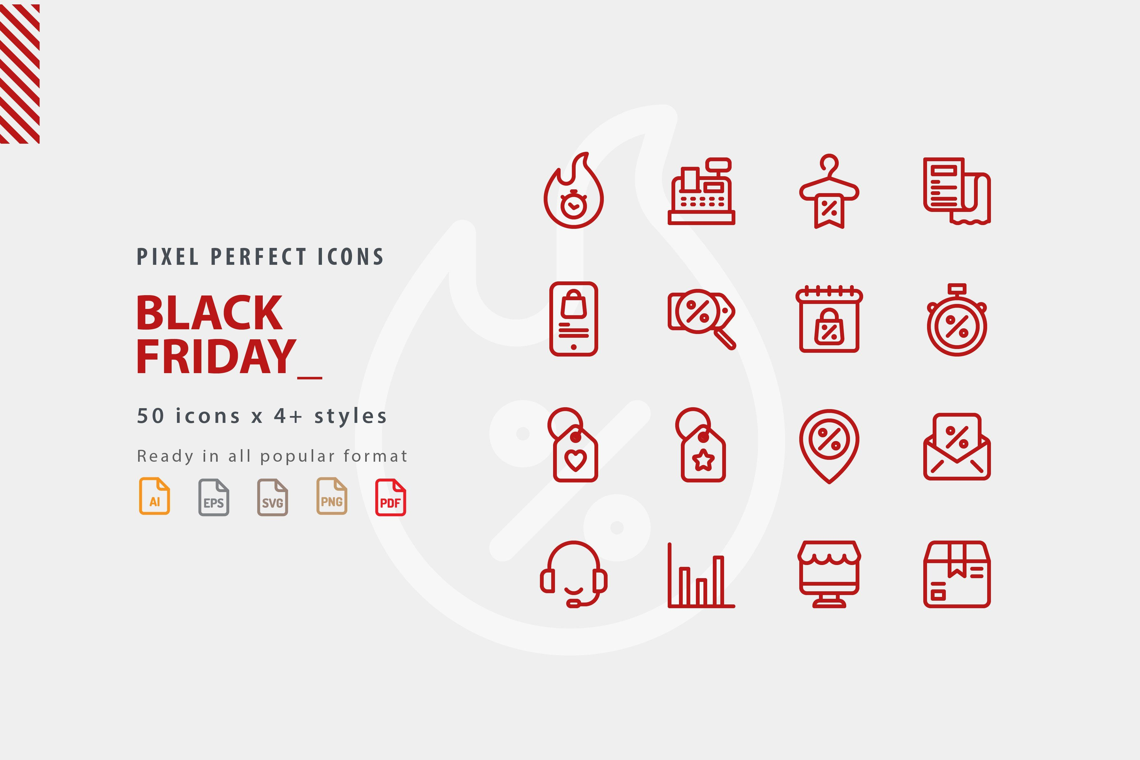 Black Friday Icon Set Icon set, Business icon, Icon package