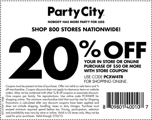 Partycity Party City Printable Coupons Party Printables Free