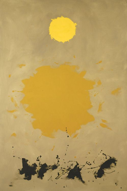 "scandinaviancollectors:  ""ADOLPH GOTTLIEB, Drift, 1961. Oil on canvas. Courtesy of Sotheby's. / Sotheby's  """