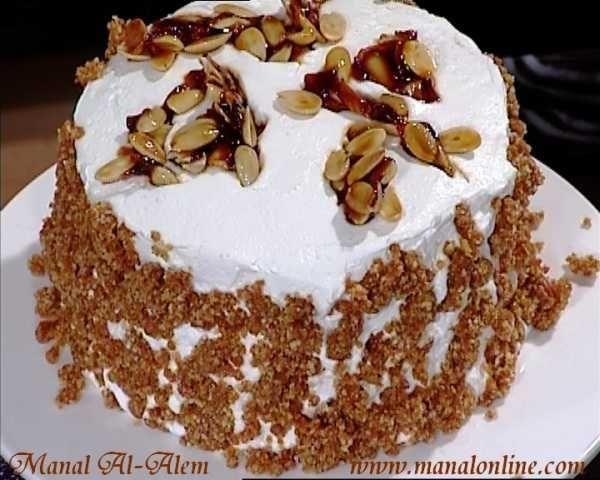 تورتة كراميل اللوز مطبخ منال العالم Cake Food Vanilla Cake