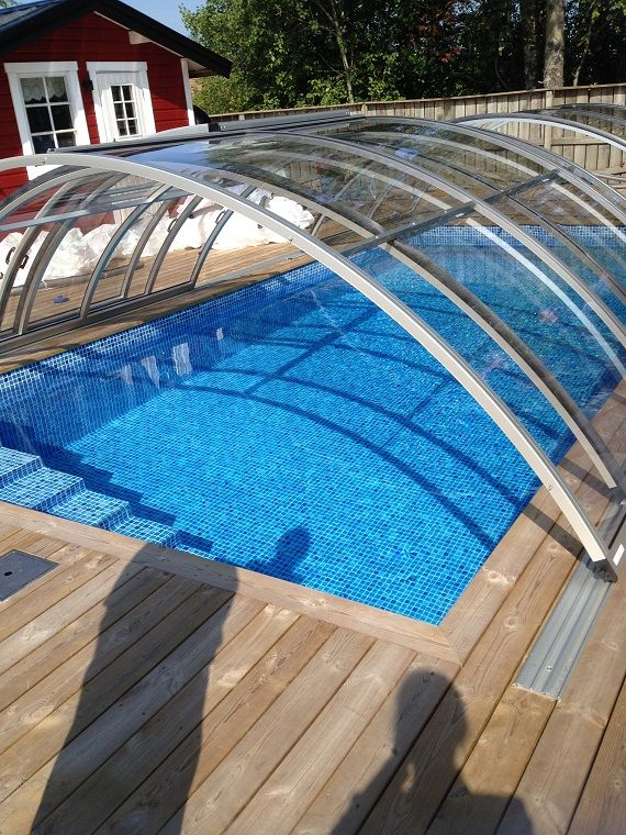 Trackless Retractable Enclosures Roll A Cover Sunrooms Pool