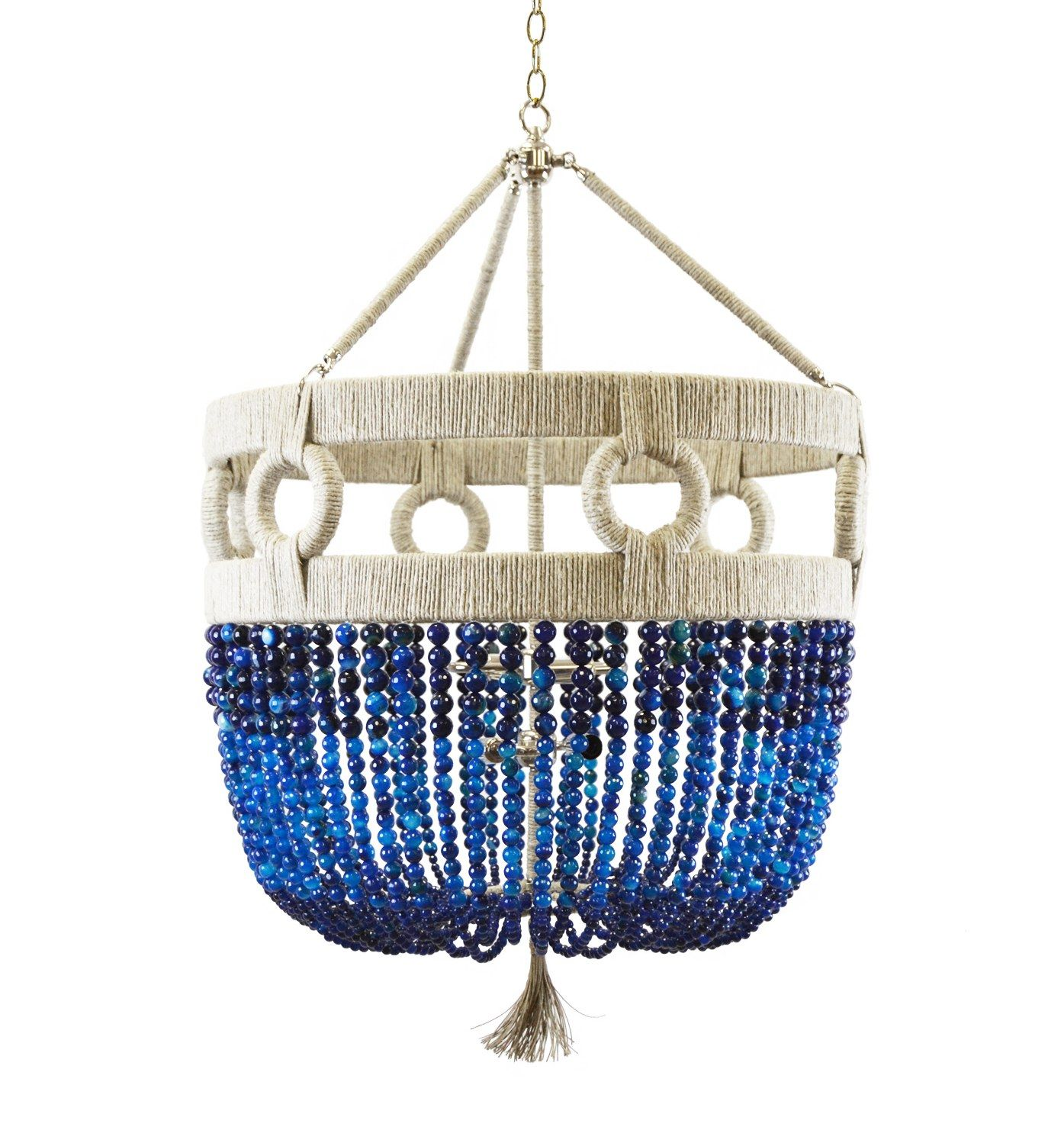 15 Colorful Light Fixtures To Brighten Any Room Beaded Chandelier Blue Chandelier Ro Sham Beaux