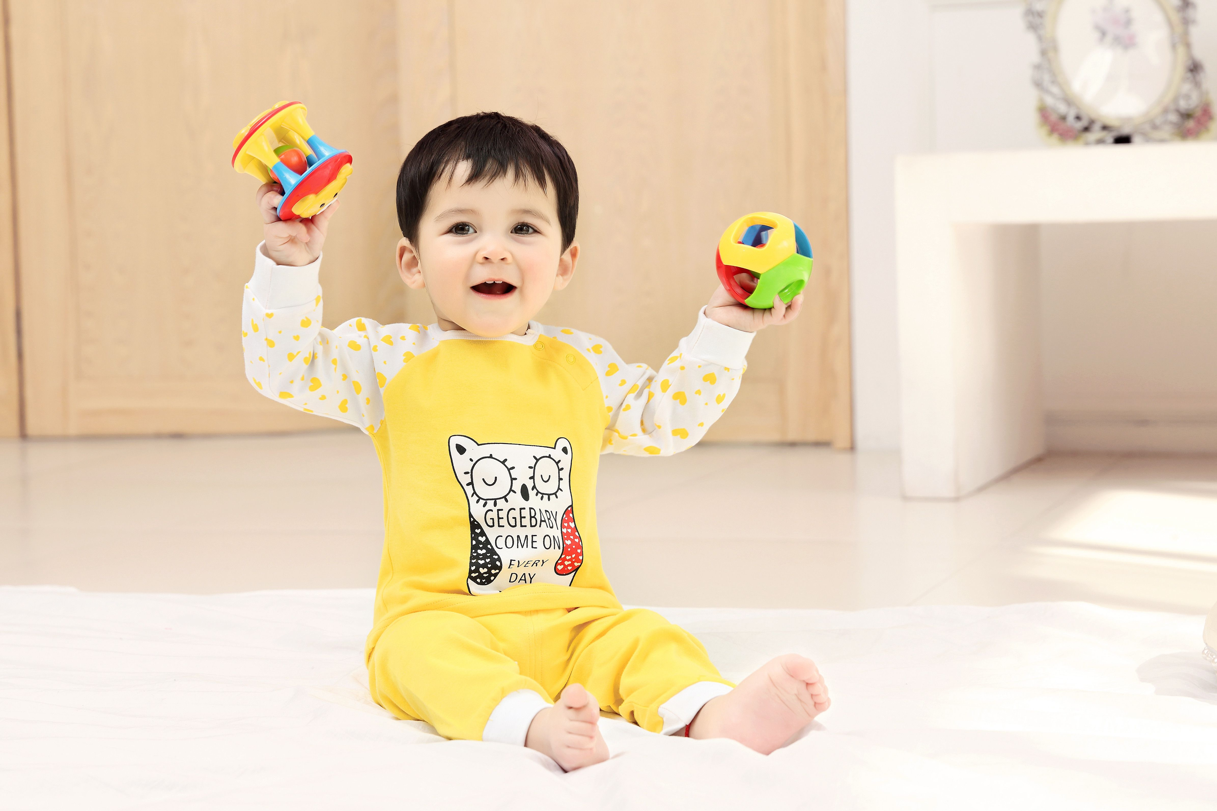 2015 New Cute Fashion Spring Fall Autumn Baby Clothing Sets Uni