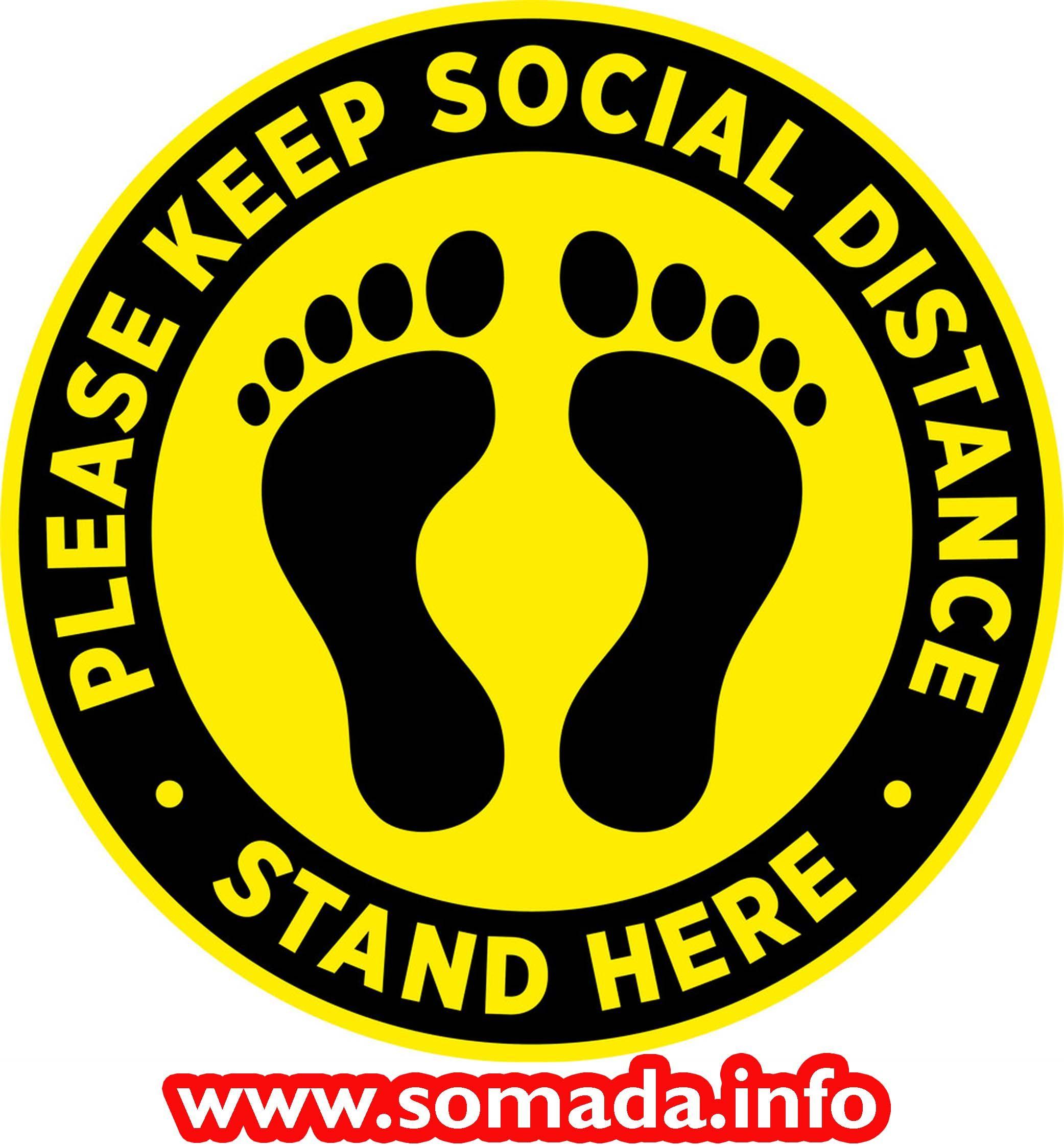 Social Distancing Floor Decals 5 Pack 12 Round Self Adhesive Vinyl Stickers Floor Stickers Signage Floor Decal