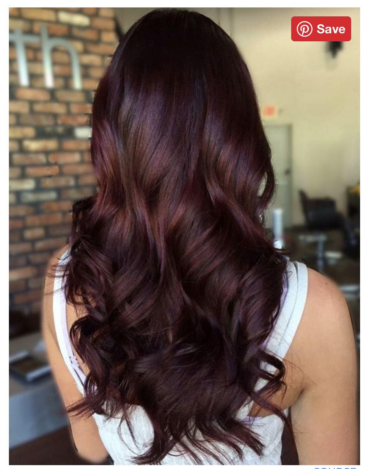 Pin By Mi Sj On Beauty Mahogany Hair Wine Hair Hair Color Mahogany