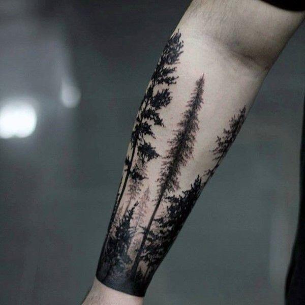 Best 25+ Forest forearm tattoo ideas on Pinterest | Tree sleeve ...