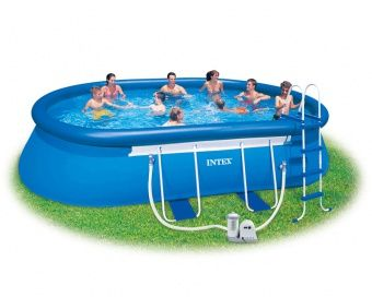 20 Ft Oval Frame Pool By Intex Piscine Hors Sol Piscine Sol