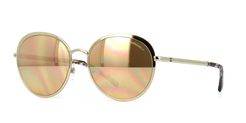349a1c913c6f Chanel 4206 395 T6 18ct Gold Plated Lens Gold Sunglasses