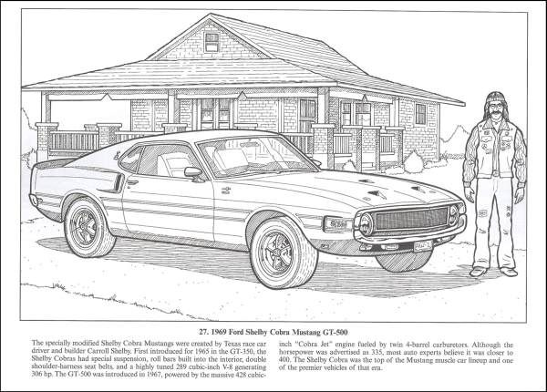American Muscle Cars Coloring Book 013455 Images Rainbow