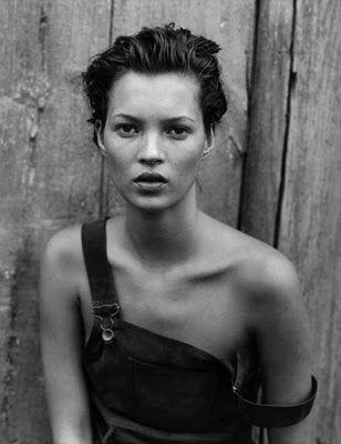 Kate Moss by Peter Lindbergh for Harper's Bazaar, New York, 1994