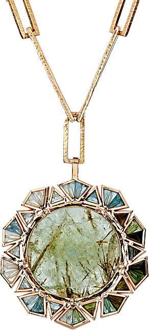 Rosamaria G Frangini | High Green Jewellery | NAK ARMSTRONG Mixed Gemstone Pendant Necklace