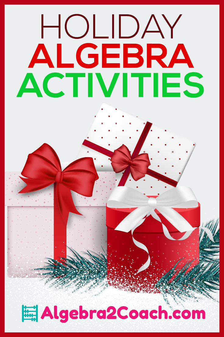Holiday Algebra 2 Activities & Worksheets | Pinterest | Algebra ...