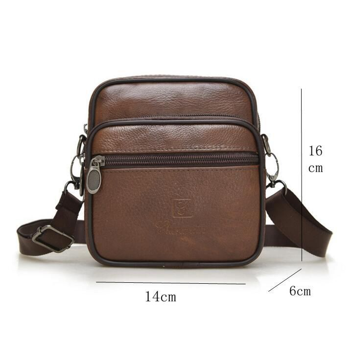 63b68073f4f5 Famous Brand 2017 Casual Men Messenger Bag Cowhide Genuine Leather Bags  Business High Quality Shoulder Bag New Fashion Handbags