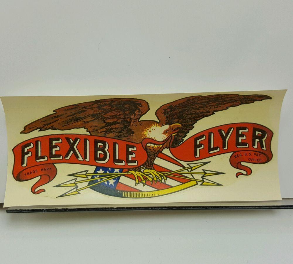 Flexible Flyer Sled Decal Meyercord Restoration Flexibleflyer