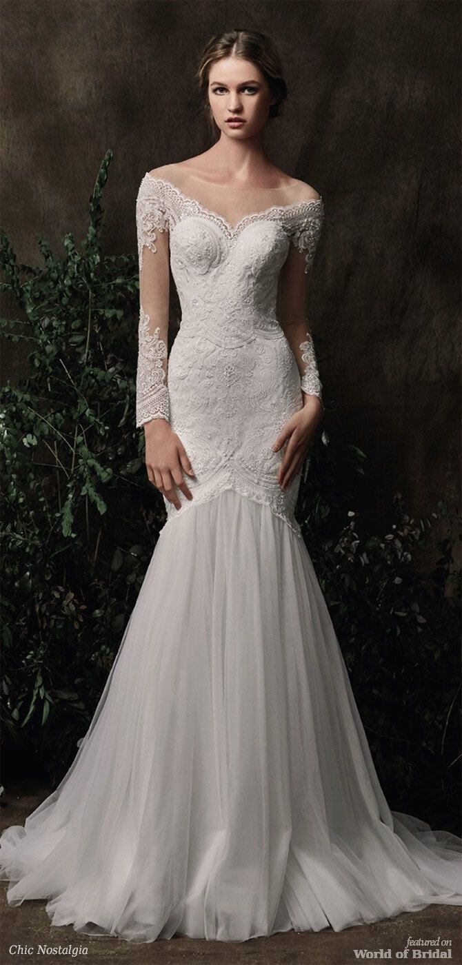 Chic nostalgia wedding dresses