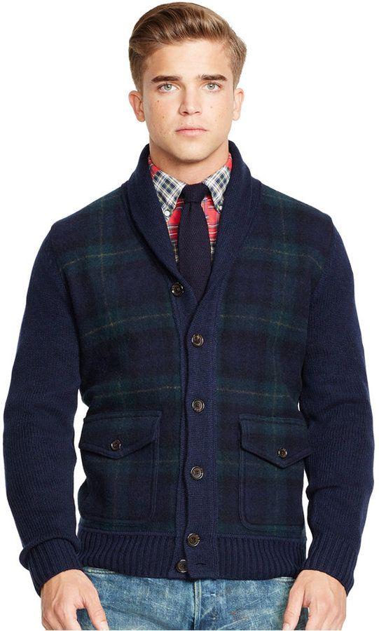 Polo Ralph Lauren Tartan Shawl Cardigan Sweater