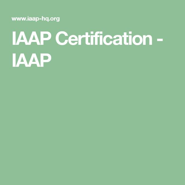 iaap certification certificate