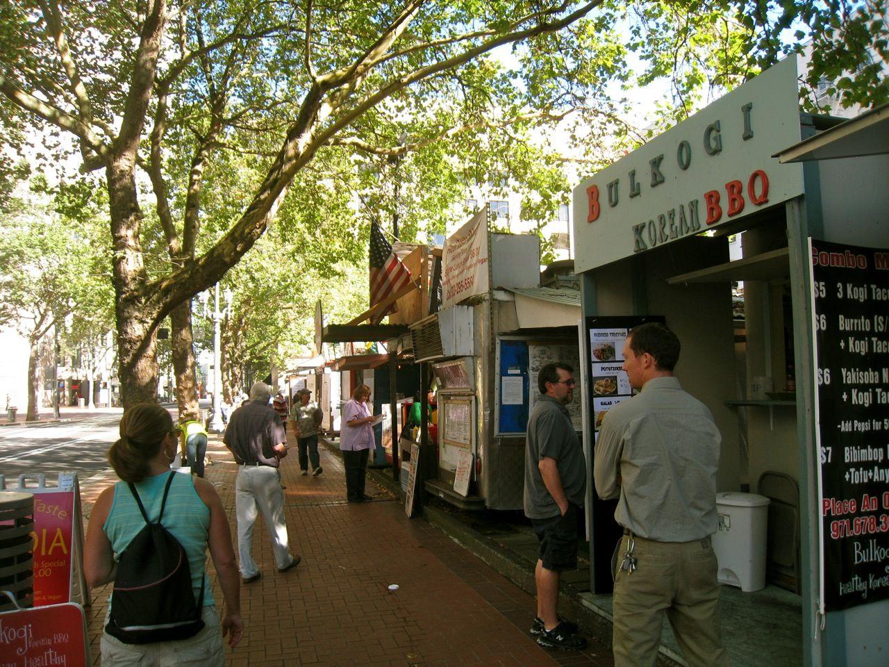 Downtown portland food cart row 1280960 food cart