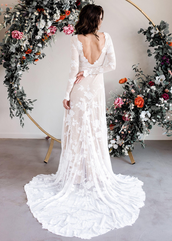 Weddingdress Wedding Dress Long Sleeve Indie Wedding Dress Long Wedding Dresses
