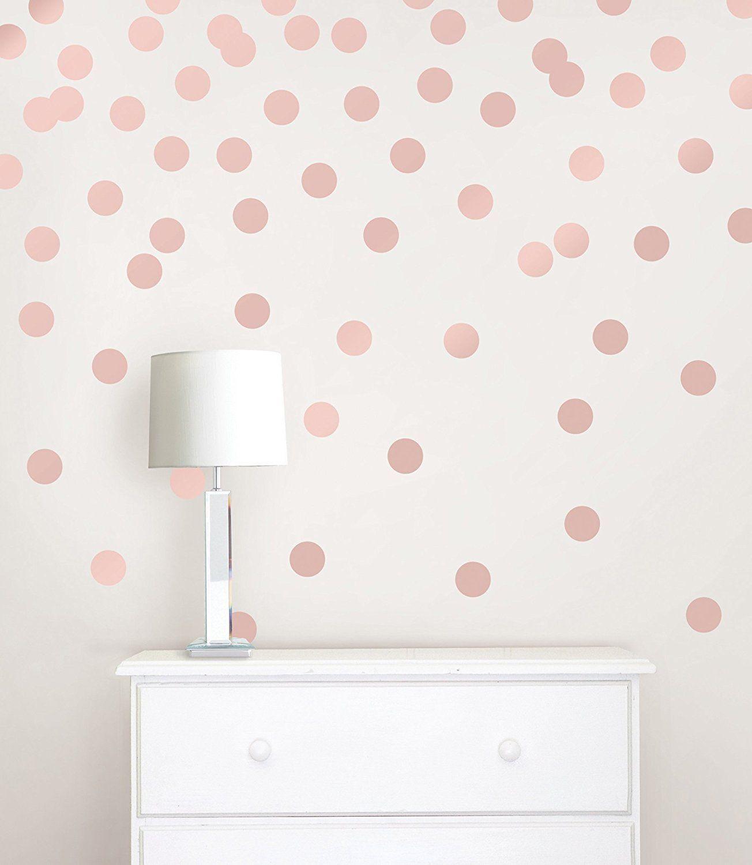 Wallpops wpd metallic effect rose gold dots decal metallic