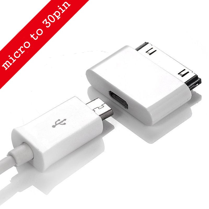 Find More Mobile Phone Cables Information About Micro Usb To 30 Pin Usb Adapter Connector Converter Cable Adapter For Iphone 4 4s 4g Ipod Charger Usb Micro Usb