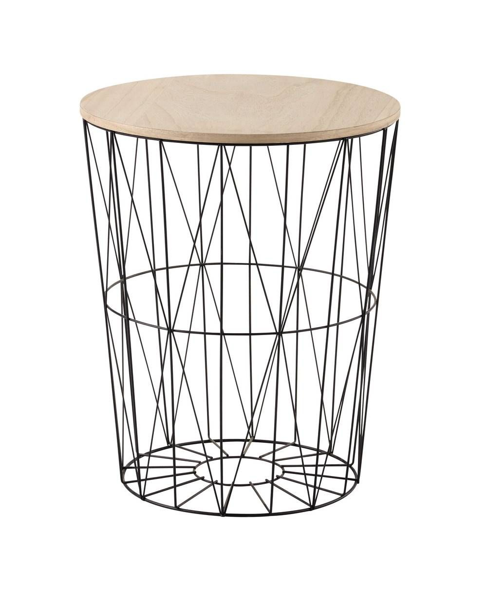 Bout De Canape Noir Bout Canape Metal In 2020 Side Table Side Table Wood Master Bedrooms Decor