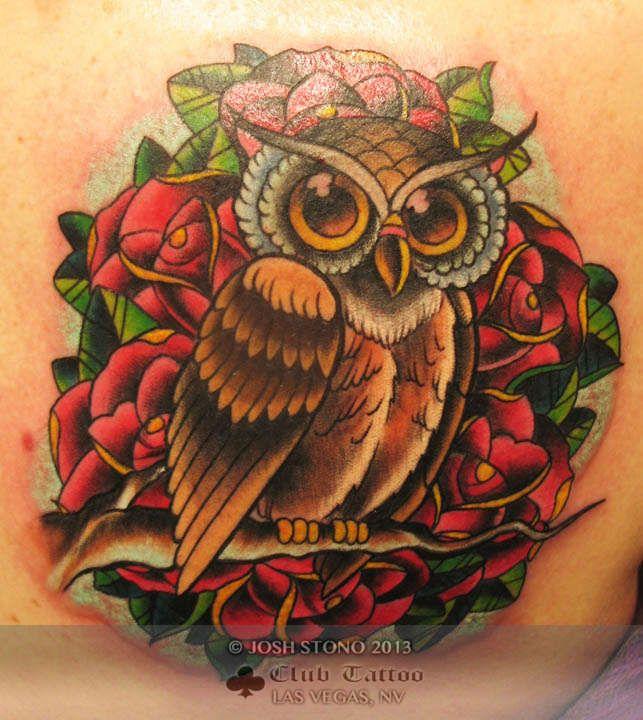 New school owl tattoo google search tattoos for Tattoo school listings
