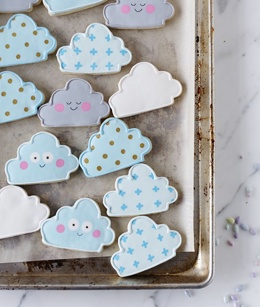 Our cookie clouds by Lindsey Bakes! Find the cutter here: http ...