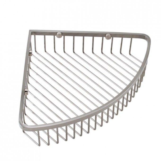 "Classic Corner Shower Basket - $75 in satin nickel - 12""w x 9""d"