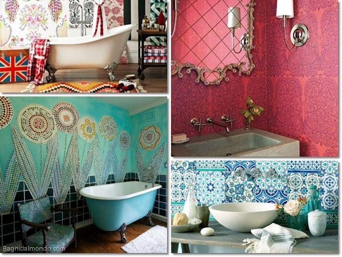 ... boho o bohemien  My Home  Pinterest  Elegante, Boho chic e Bagno