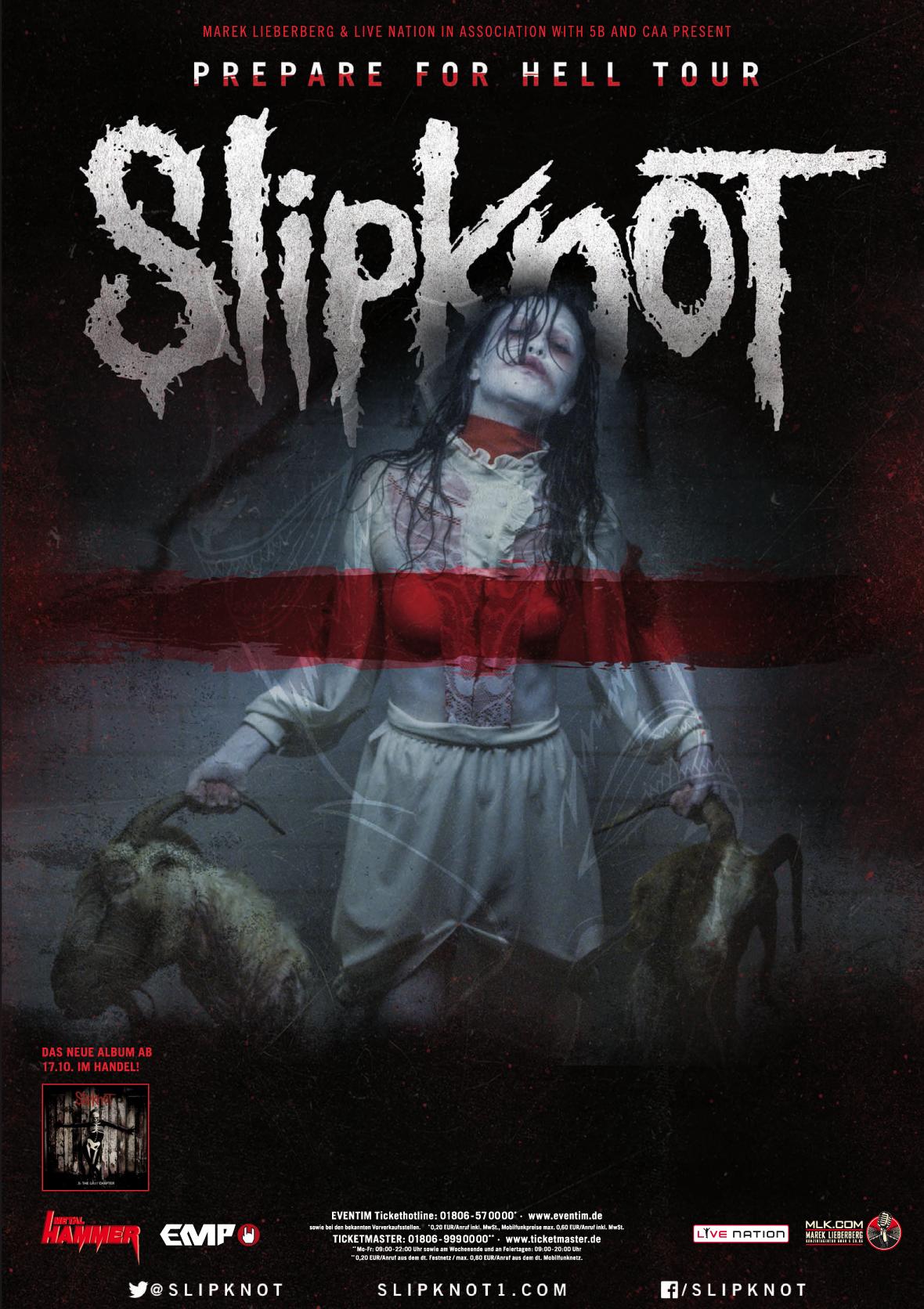 Pin von TicketmasterDE auf Tourposter in 2019 | Slipknot, Musik und