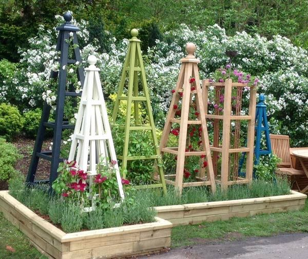 wooden obelisk painted garden obelisk gallery